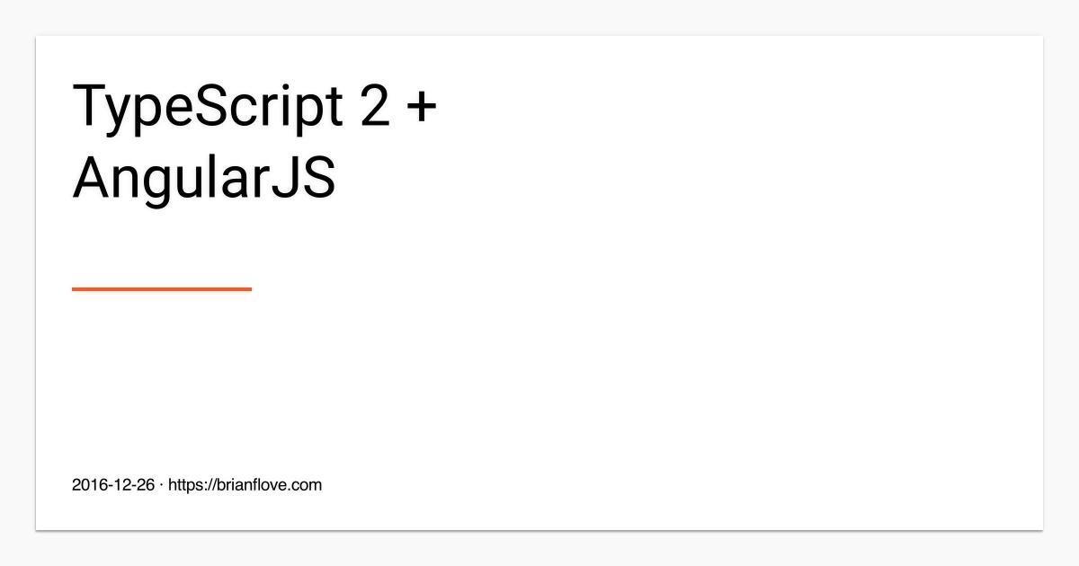 typescript 2   angularjs